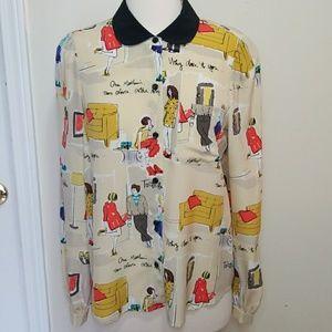 Kate Spade Garance Dore silk shirt 6